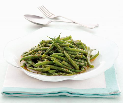 Spicy Green Beans (Pad Ped Tou Kag) - A review of cookery book Easy Thai Cookbook by Sallie Morris
