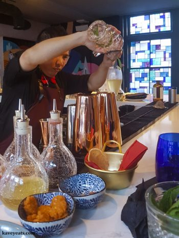 Viet Lounge in London's China Town, offers excellent cocktails and small plate Vietnamese dishes in a second floor bar above restaurant Viet Food.