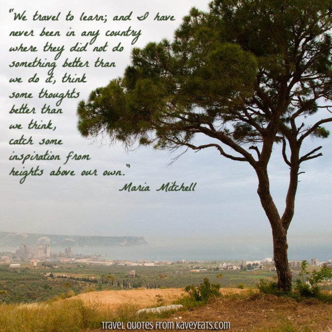 Photo of Lebanon with quote by Maria Mitchell