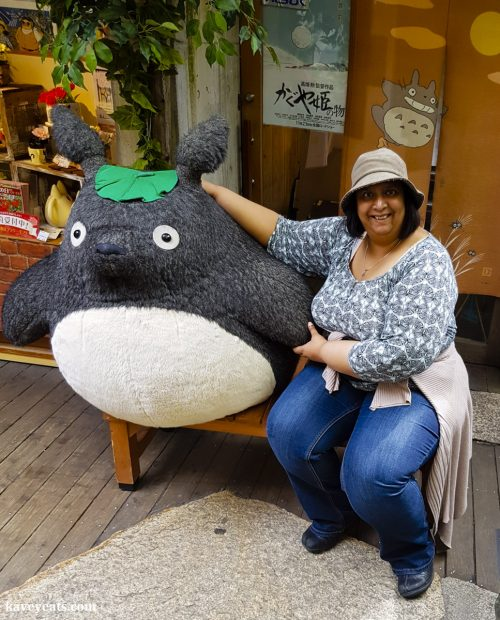 Woman cuddling a Totoro soft toy - Ghibli merchandise (Best Souvenirs from Japan)