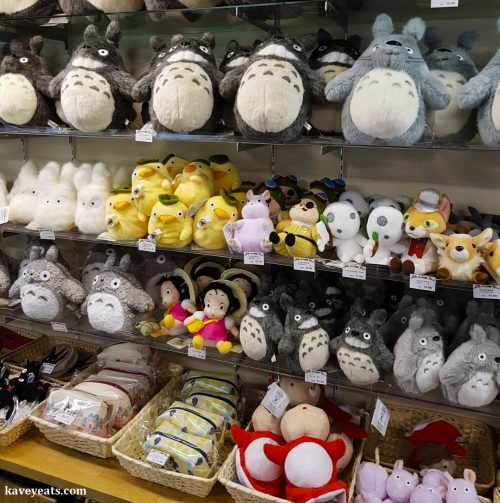 Shelves of Ghibli soft toys (Best Souvenirs from Japan)