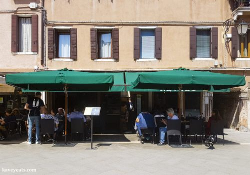 Exterior of Nevodi, a fantastic traditional restaurant in Venice's laidback Castello district.