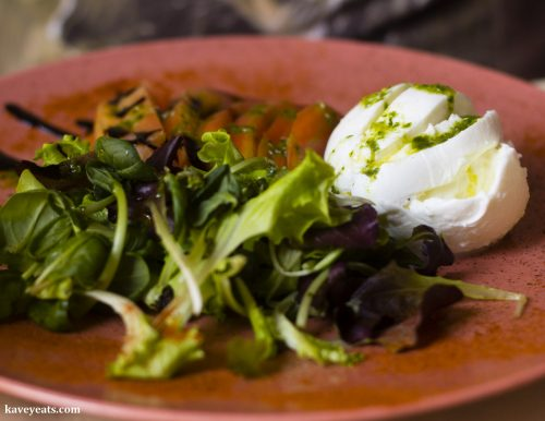 Mozzarella and tomato salad - Nevodi, a fantastic traditional restaurant in Venice's laidback Castello district.