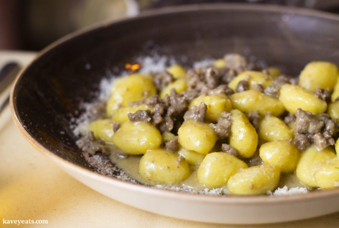 Gnocchi and duck ragu at Nevodi, a fantastic traditional restaurant in Venice's laidback Castello district.