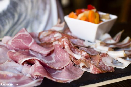 Mixed cold cured meats - Nevodi, a fantastic traditional restaurant in Venice's laidback Castello district.