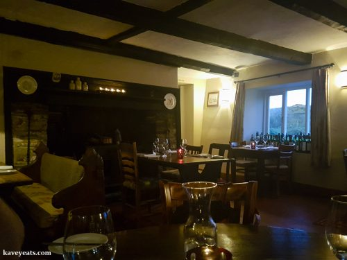 Interior of Celebratory Dinner at The Hardwick in Abergavenny, Monmouthshire, Wales