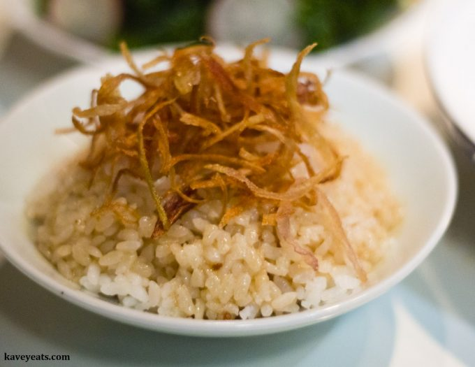 Bowl of Lardo Lard Rice at Xu London