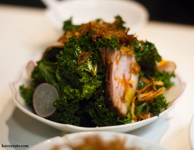 Kale & Lap Yuk Salad at Xu London