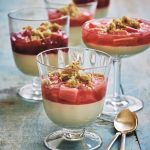 Yuzu Cream, Rhubarb and Pistachio Crumble Recipe from The Japanese Larder by Luiz Hara | Bringing Japanese Ingredients Into Your Everyday Cooking