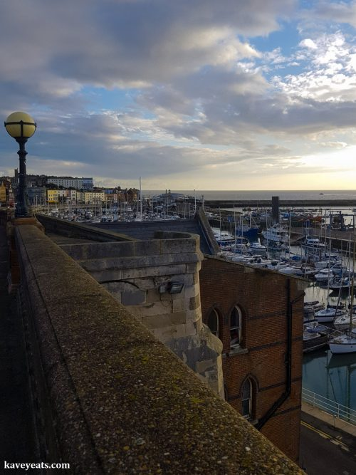 Sunrise view of Ramsgate's Royal Harbour and Sea