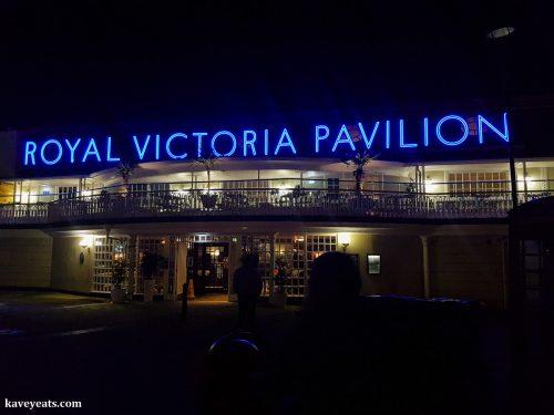 Night shot of Royal Victoria Pavilion in Ramsgate