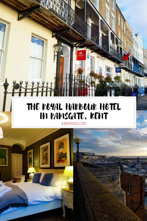 The beautiful Georgian terrace properties of the Royal Harbour Hotel Ramsgate, Kent