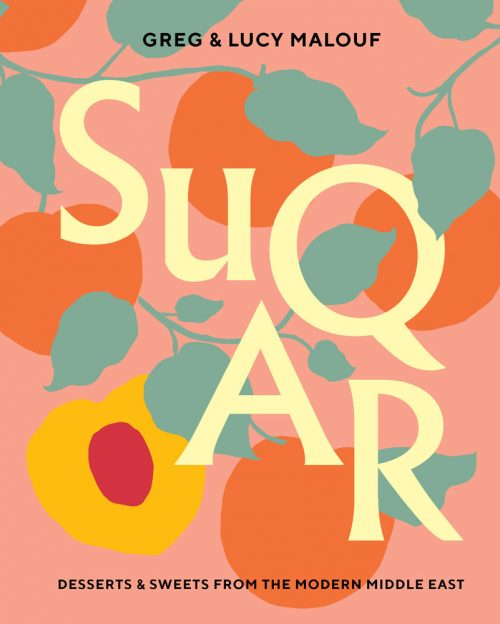 Book jacket for SUQAR: Desserts and sweets from the modern Middle East by Greg and Lucy Malouf