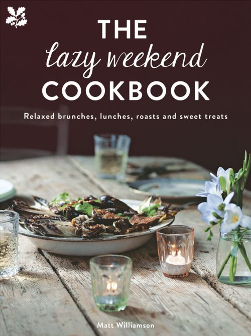 Book jacket for The Lazy Weekend Cookbook