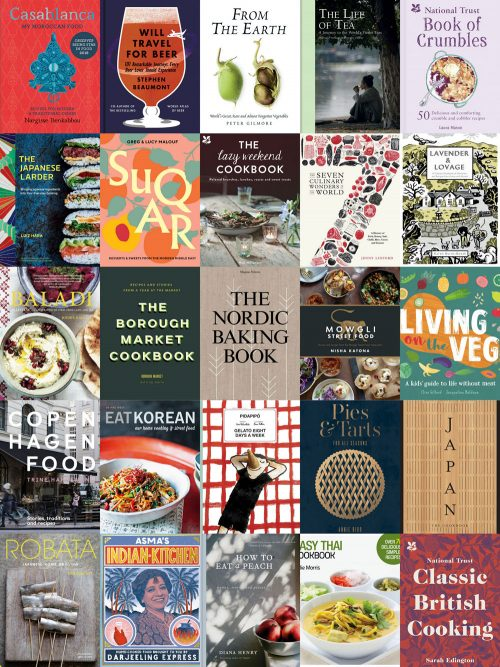 Collage of Kavey Eats' Best Food and Drink Books of 2018
