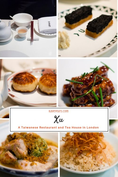 Selection of dishes at Xu Taiwanese restaurant in central London