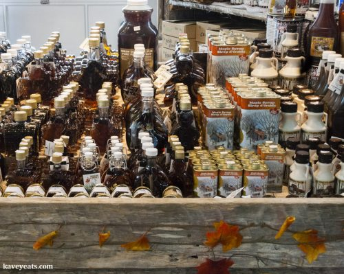 Maple Stall at Farmers Market - Canadian Maple Syrup