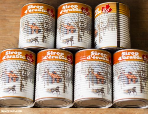 Tins of Canadian Maple Syrup