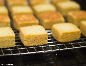 Just-baked Taiwanese pineapple cakes on a cooling rack