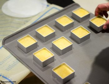 Taiwanese Pineapple cakes in moulds, ready to bake