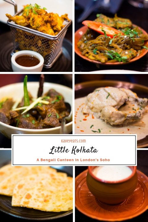 Pinterest Collage for Little Kolkata Bengali Canteen Restaurant in London's Soho Neighbourhood