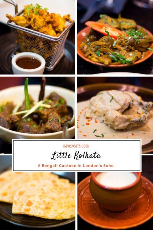Pinterest Collage for Little Kolkata Bengali Canteen Restaurant in London's Soho Neighbourhood