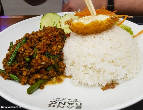 Minced Pork and Green Beans from Little Thai Silk restaurant in Bang Bang Oriental Food Court, Colindale, North West London