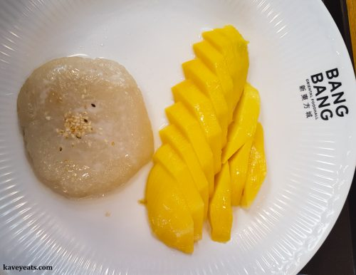 Mango Sticky Rice from Little Thai Silk restaurant in Bang Bang Oriental Food Court, Colindale, North West London