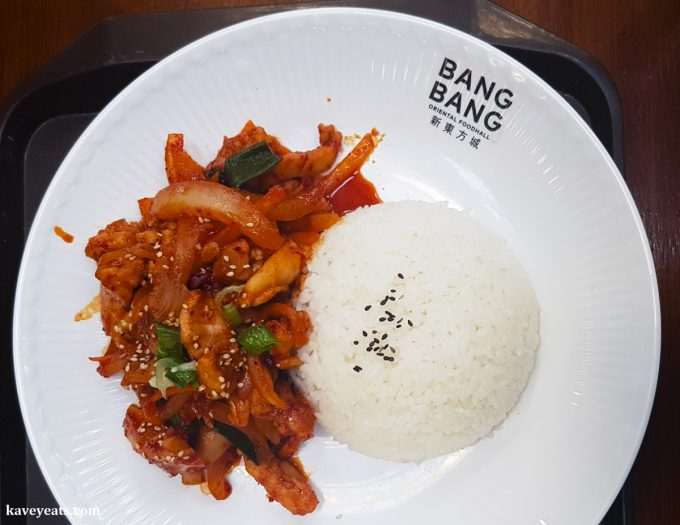 Chicken bulgogi from Janchi Korean Kitchen restaurant in Bang Bang Oriental Food Court, Colindale, North West London