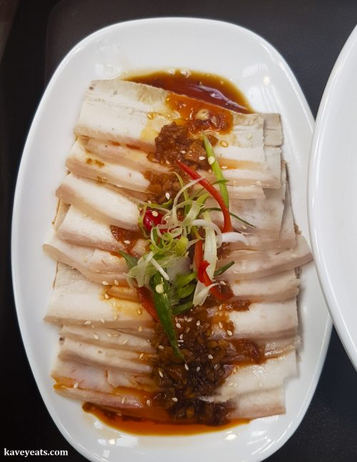 Cold Pork Belly in Chilli Sauce from Uncle Chilli restaurant in Bang Bang Oriental Food Court, Colindale, North West London