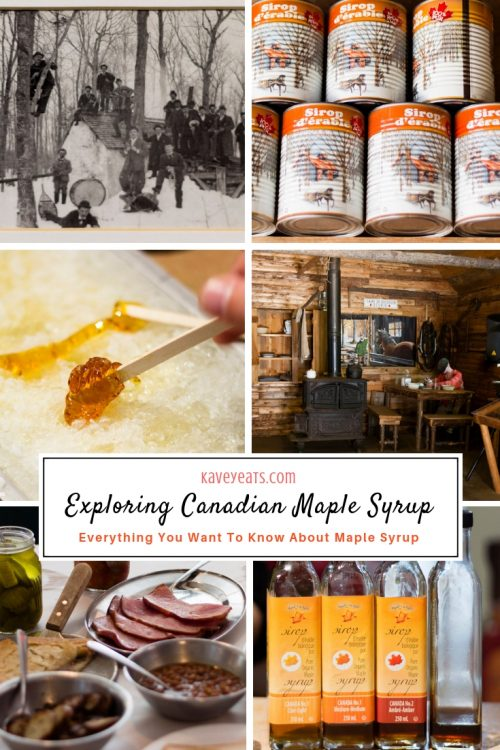 Collage on Canadian Maple Syrup