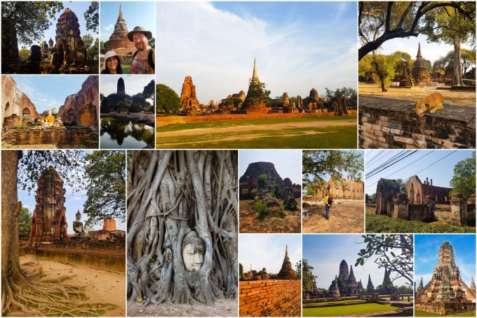 Palace and Temple Ruins of Ayutthaya, Thailand
