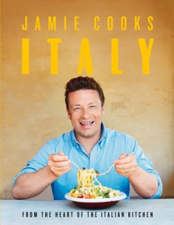 Jamie Cooks Italy by Jamie Oliver (book dust jacket)