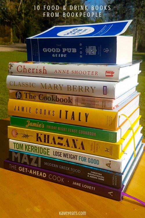 Stack of ten food and drink books