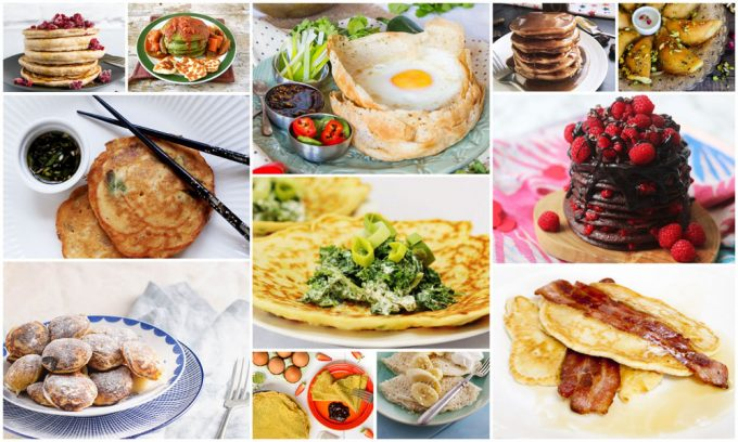 Collage of Perfect Pancake Recipes for Pancake Day or Any Day
