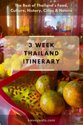 Bangkok Temple Offering - 3 Week Thailand Itinerary