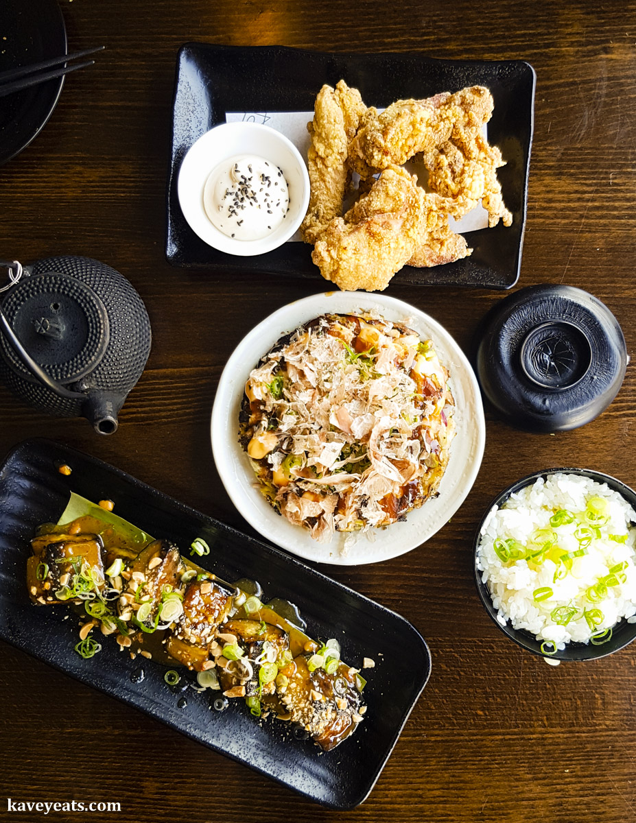 Selection of dishes at Koj Cheltenham Japanese Restaurant