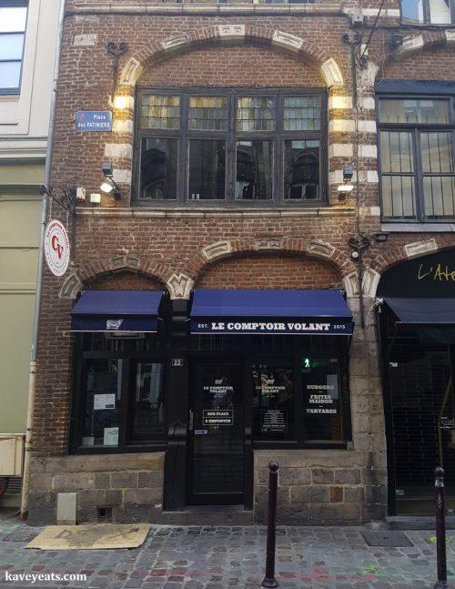 Exterior of Burgers Le Comptoir Volant Burger Restaurant in Lille