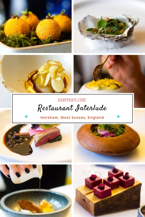Collage of tasting menu at Restaurant Interlude, Leonardslee Gardens