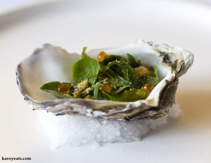 Foraged Oyster & Oca, Restaurant Interlude Tasting Menu