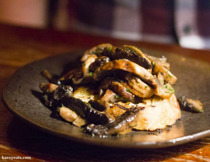 Charcoal roasted mushrooms, persillade on toast - The Ox, Bristol