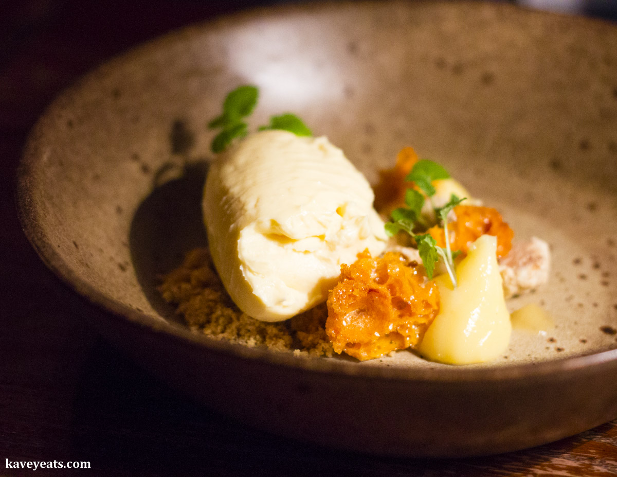 Lemon cheesecake, honeycomb, milk crumb - The Ox, Bristol
