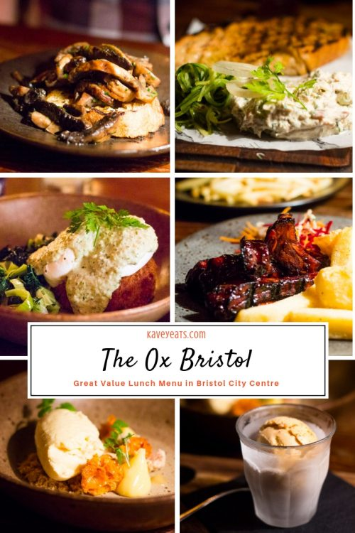 Collage of different dishes at The Ox, Bristol