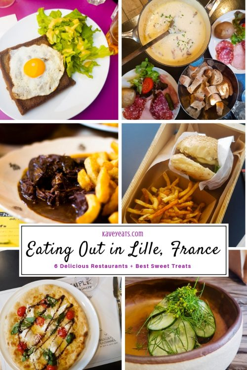 Collage of Food in Lille, France