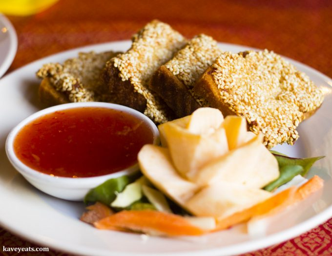 Sesame Prawn Toast and Sweet Chilli Dipping Sauce