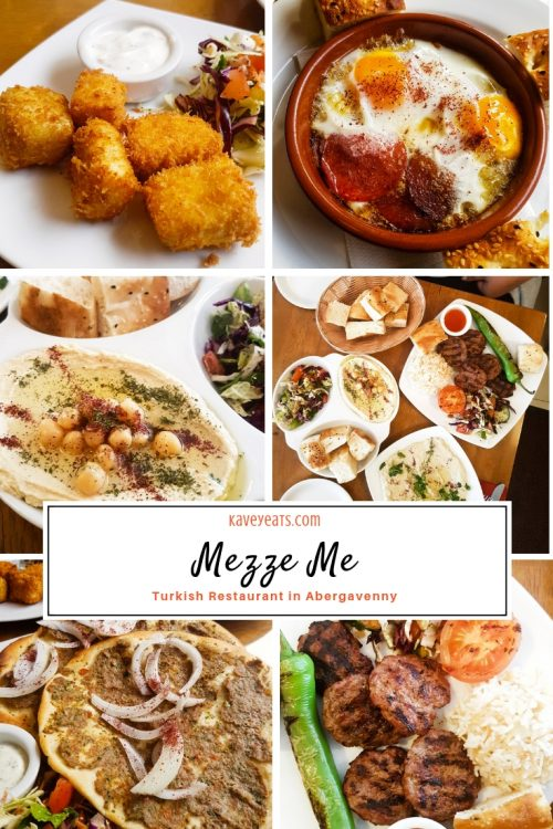 Selection of dishes at Mezze Me Turkish Restaurant in Abergavenny, Monmouthshire, Wales