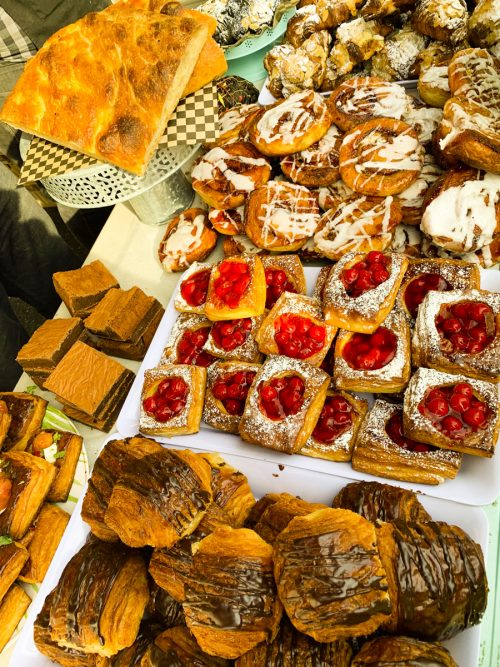 Bakery stall at Vancouver Farmers Market