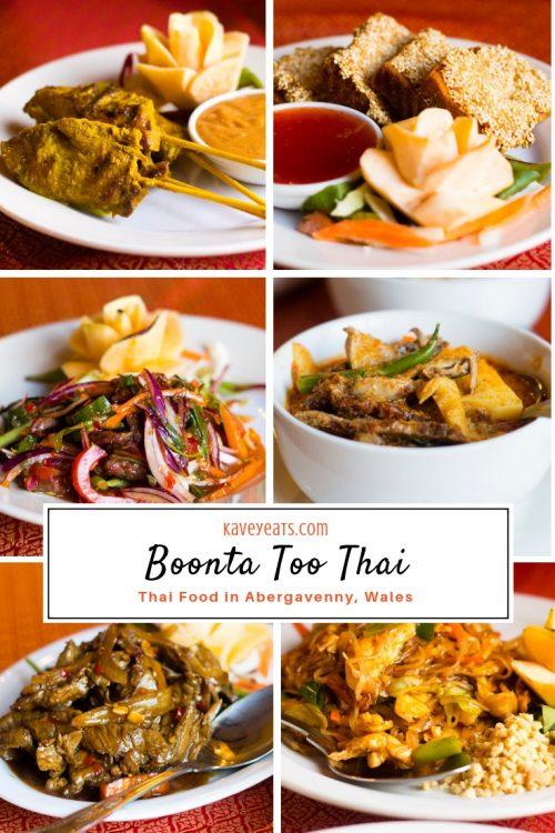 Boonta Thai Restaurant in Abergavenny, Wales