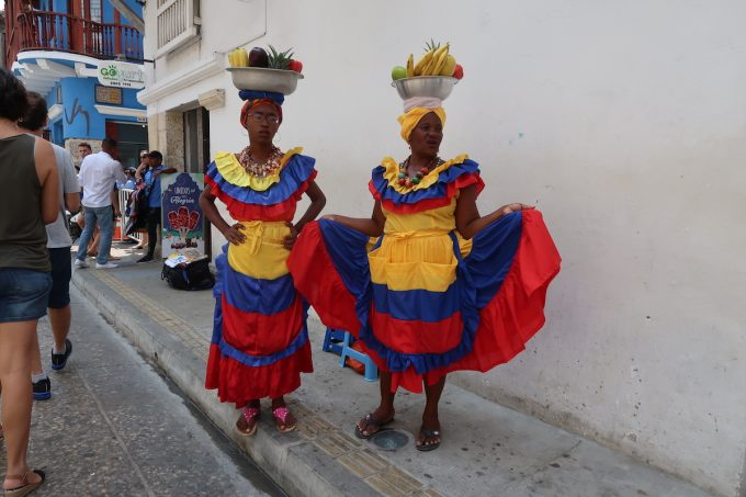 Palenqueras (the women of Palenque) in Cartagena