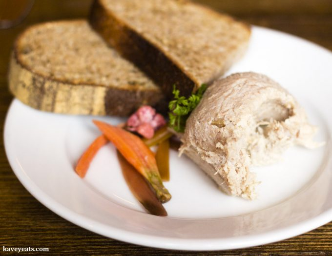 Pork rillettes and toasted sourdough
